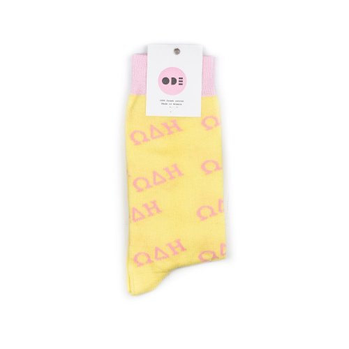 ODE TO SOCKS PASTEL ΩΔΗ LIGHT YELLOW PINK