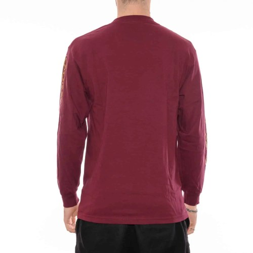 PASS~PORT INTERSOLID LS TEE BURGUNDY 2