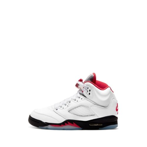 JORDAN 5 RETRO GS TRUE WHITE RED BLACK