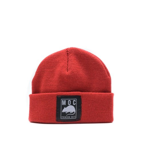 MOC LABEL 1 BEANIE SHORT RED