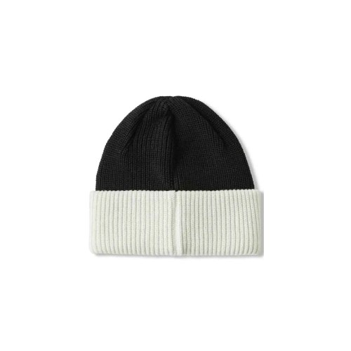 POLAR DOUBLE FOLD MERINO BEANIE BLACK WHITE 2