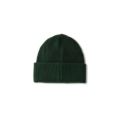POLAR DOUBLE FOLD MERINO BEANIE HUNTER GREEN 2