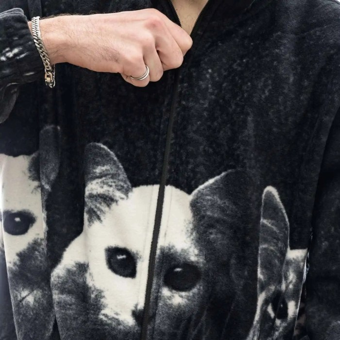 RIPNDIP FIELD OF CATS SHERPA JACKET BLACK 3