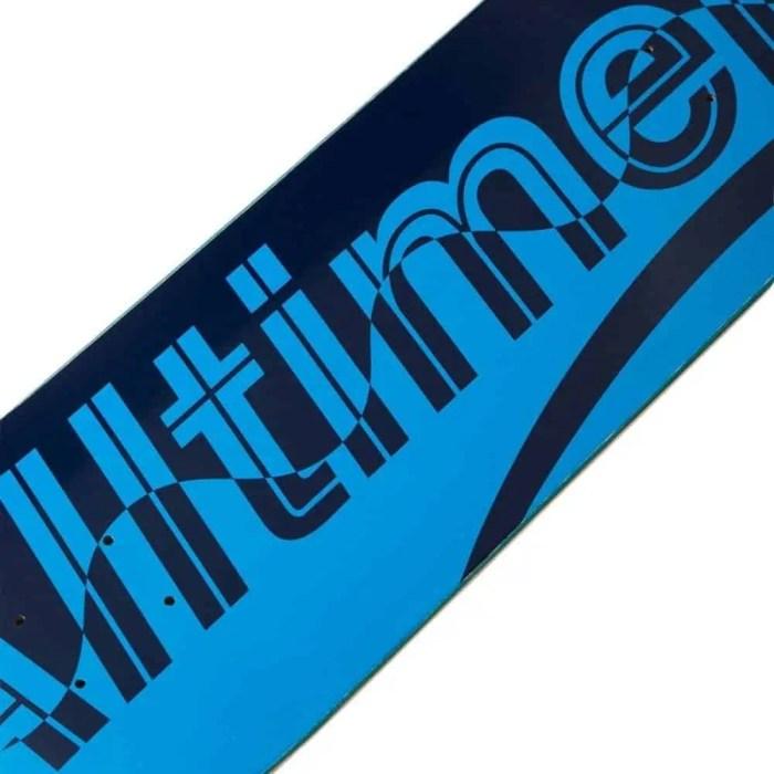 ALLTIMERS NAVY WAVE ESTATE SKATEBOARDING DECK NAVY BLUE 8.5 2
