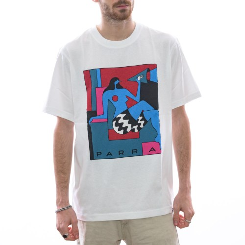 PARRA TOO LOUD TEE WHITE