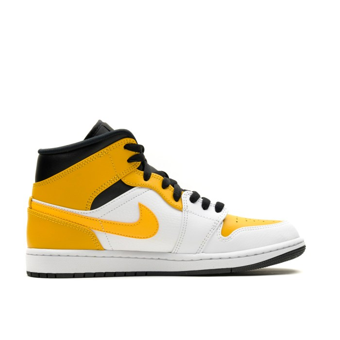AIR JORDAN 1 MID WHITE UNIVERSITY GOLD BLACK 5