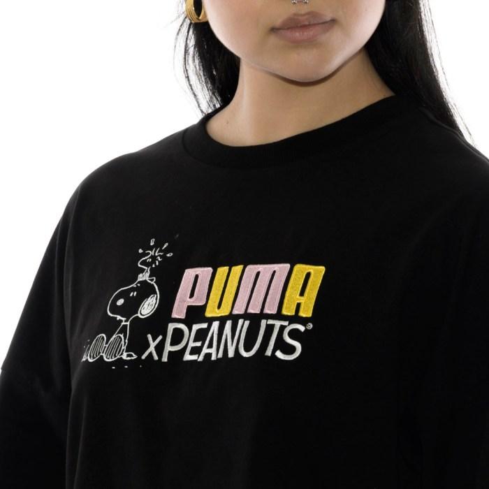 PUMA X PEANUTS WMNS TEE PUMA BLACK 3