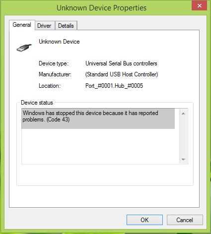 error code 43