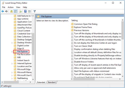 locate File Explorer