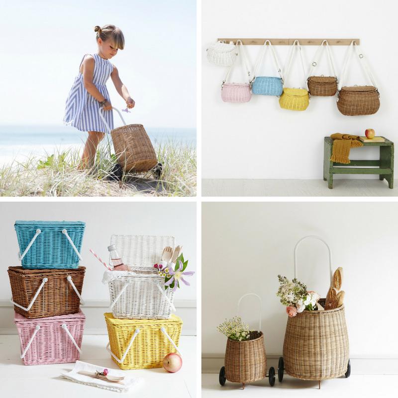 Olli Ella, Baskets, Einkaufskorb Kinder, Stadtlandkind, Mini & Stil
