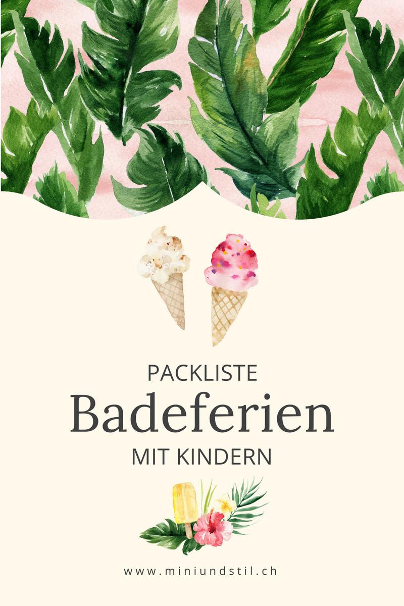 Badeferien mit Kindern, Packliste, Download, Ferien mit Kindern, Mini & Stil