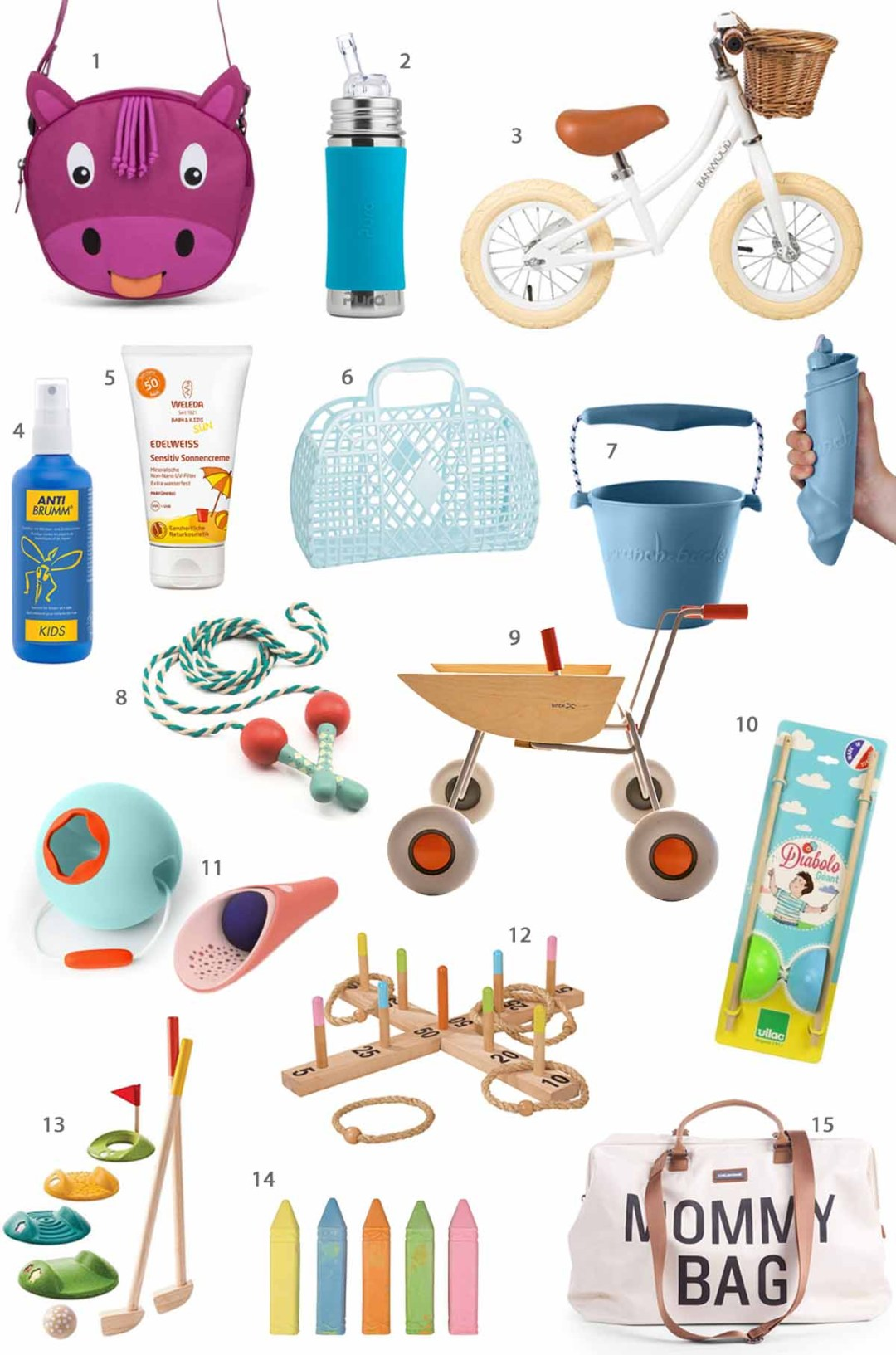 Lovable things for outdoors: outdoor toys and useful things for warm days