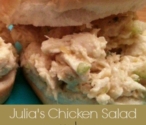 Julia's Chicken Salad via Mini Van Dreams