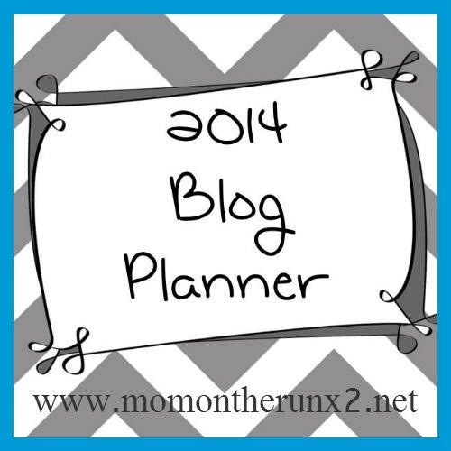 2014 Blog Planner