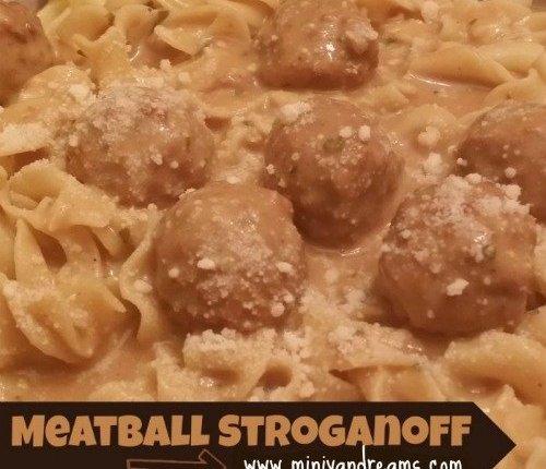 Meatball Stroganoff via Mini Van Dreams #easyrecipes #recipes