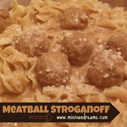 Meatball Stroganoff via Mini Van Dreams #easyrecipes #recipes
