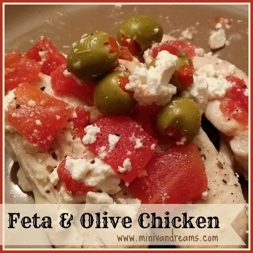 feta and olive chicken via mini van dreams