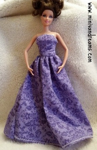 barbie doll gown full length