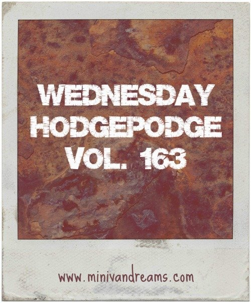 wednesday hodgepodge vol. 163 via mini van dreams