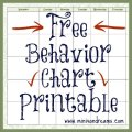Behavior Chart Free Printable via Mini Van Dreams