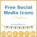 Free Social Media Icons in Freesia via Mini Van Dreams #socialmediaicons #free #blogging