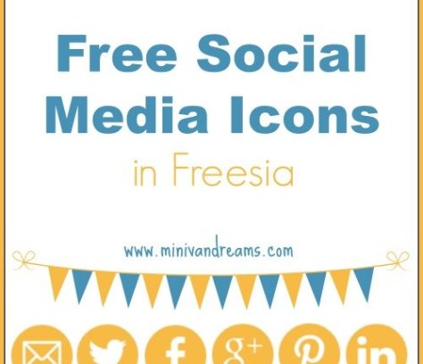Free Social Media Icons in Freesia via Mini Van Dreams #socialmediaicons #free #blogging
