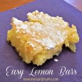 Easy Lemon Bars | Mini Van Dreams