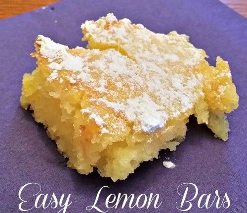 Easy Lemon Bars | Mini Van Dreams
