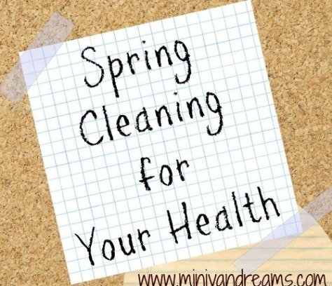 Spring Cleaning for Your Health via Mini Van Dreams