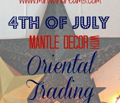 4th of July Mantle Decor with Oriental Trading via Mini Van Dreams #decor #orientaltrading #sponsored