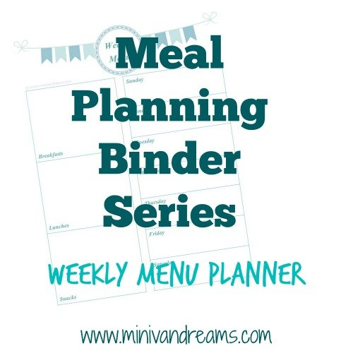 Meal Planning Binder Series: Weekly Menu