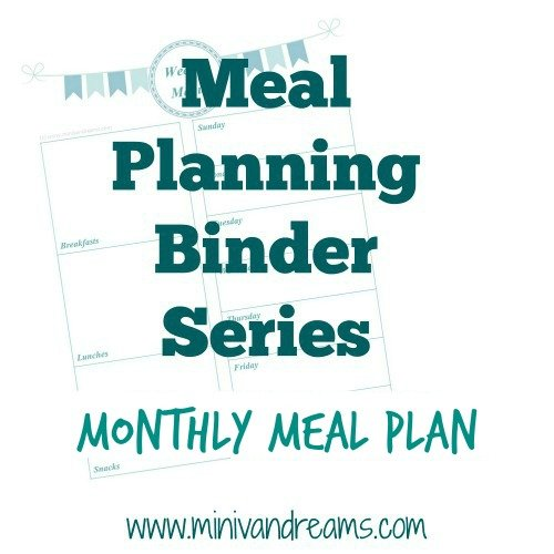 Meal Planning Binder Series: Monthly Meal Plan