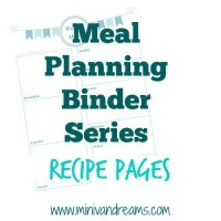 Meal Planning Binder: Recipe Pages