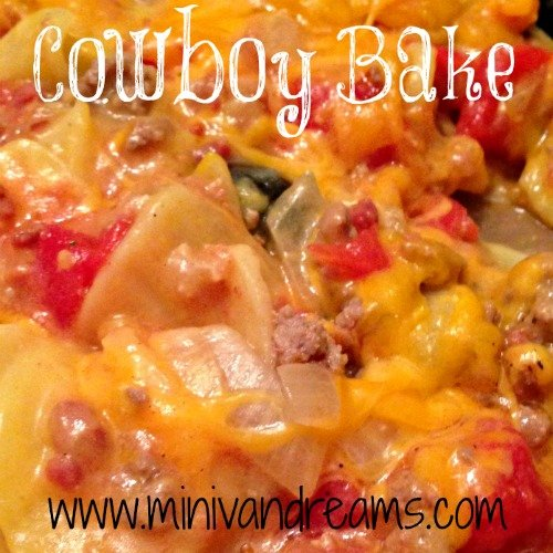 Cowboy Bake | Mini Van Dreams #recipes #easyrecipes #recipesforcasseroles