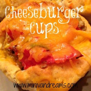 Cheeseburger Cups | Mini Van Dreams #footballfood #party #recipes