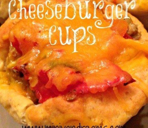 Cheeseburger Cups   Mini Van Dreams #footballfood #party #recipes