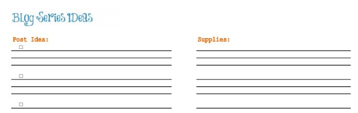 Free 2015 Blog Planner | Mini Van Deams