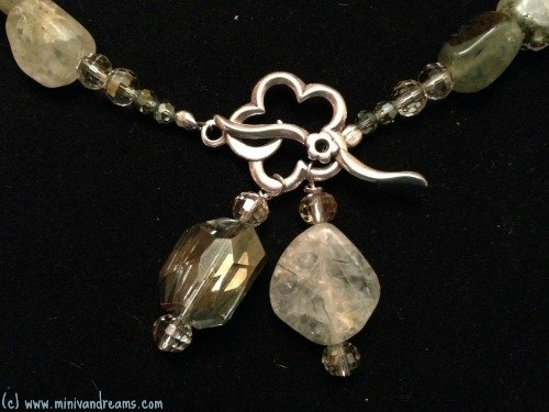 Green Rutile Quartz Necklace Tutorial | Mini Van Dreams