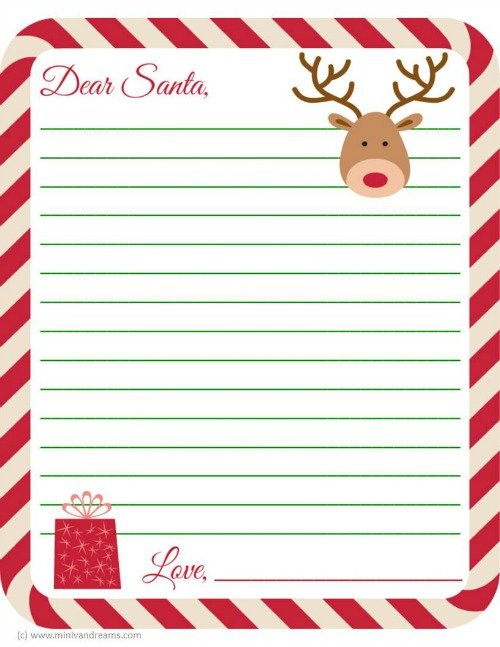 Slobbery image intended for printable santa letter