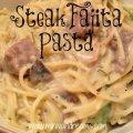 Steak Fajita Pasta & Tickle My Tastebuds #29 | Mini Van Dreams #recipes