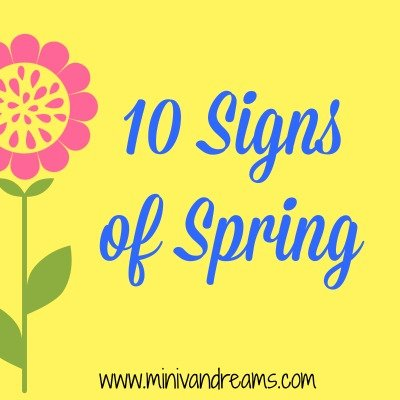 10 Signs of Spring | Mini Van Dreams