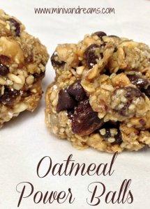 No Bake Oatmeal Power Balls   Mini Van Dreams