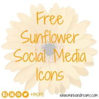 Sunflower Social Media Icons