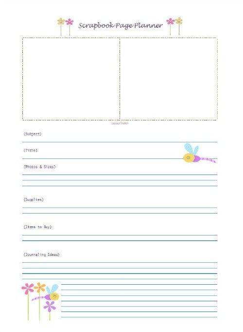 Free Scrapbook Page Planner | Mini Van Dreams