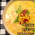 Cheesy Crockpot Potato Soup | Mini Van Dreams