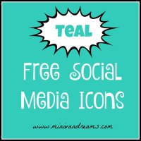 Free Social Media Icons - Teal