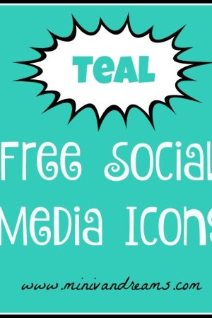 Free Social Media Icons - Teal | Mini Van Dreams