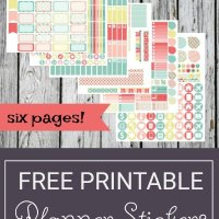 Free Printable Planner Stickers - Hot Summer Day