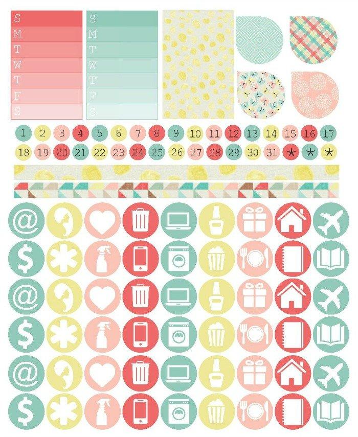 Free Planner Stickers | Mini Van Dreams