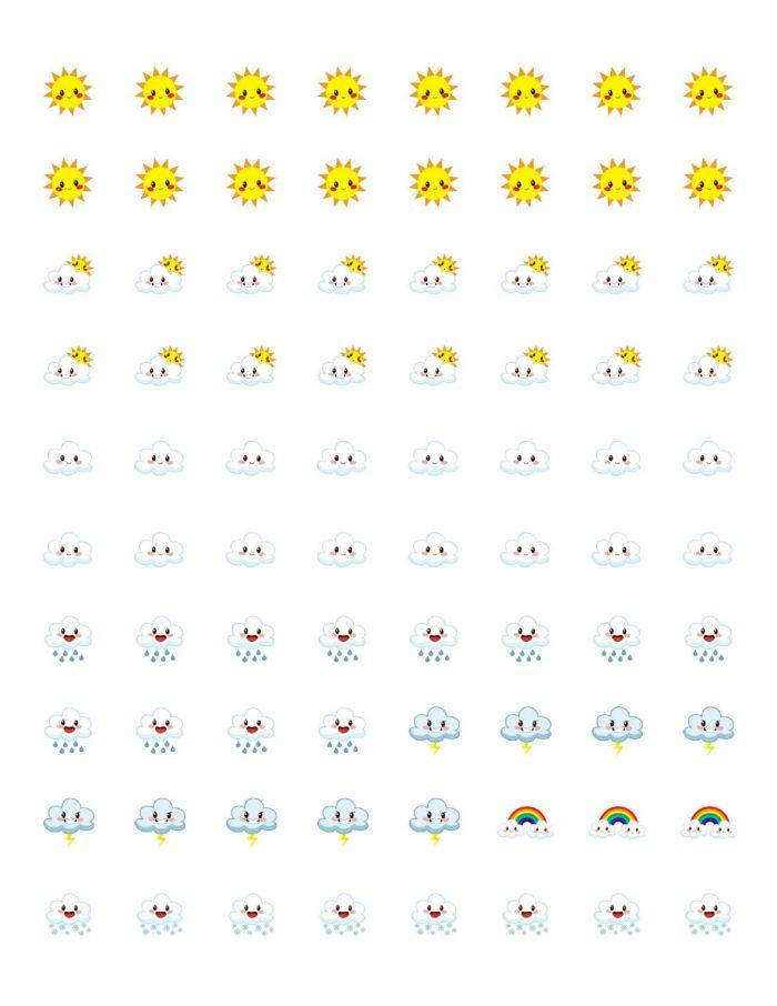 Free Printable Planner Stickers - Weather Icons | Mini Van Dreams